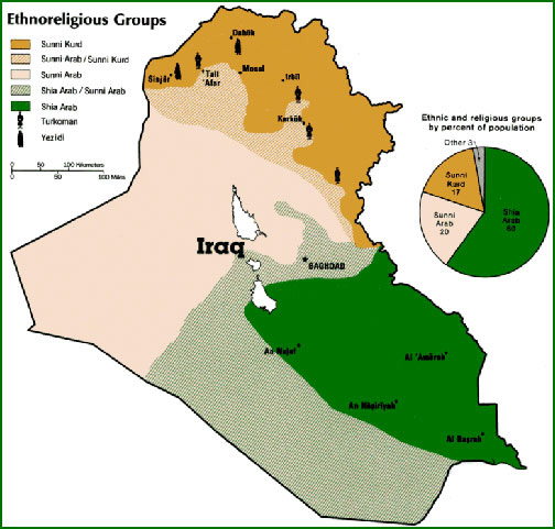 Iraq Ethnic Map