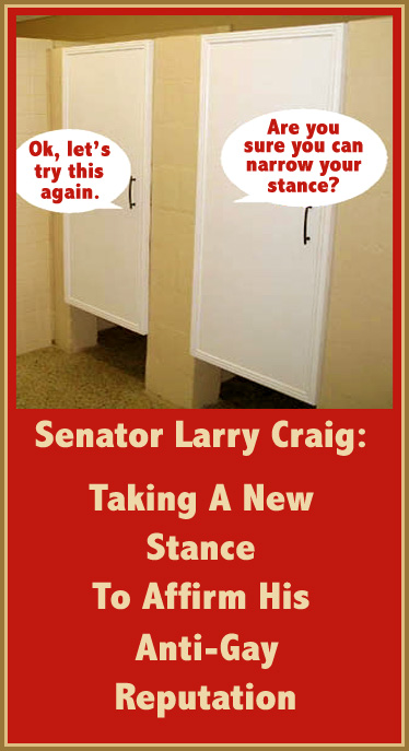 Larry Craig's New Stance