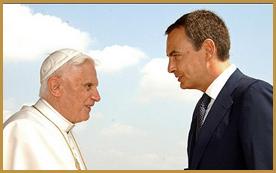 Jose Luis Zapatero & Pope Benedict