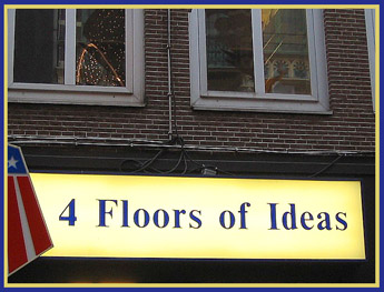 Store signage in Amsterdam - 2004