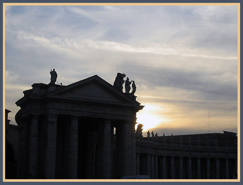 Sunset at the Vatican - 2004