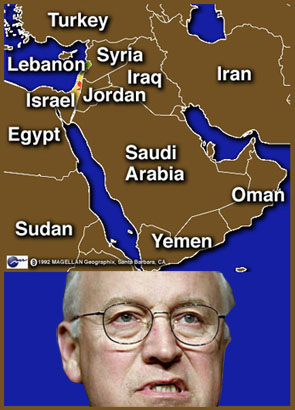 Middle East obstacle - Cheney