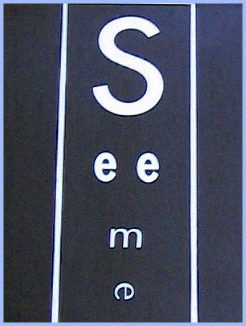 Store signage in Vienna - 2004