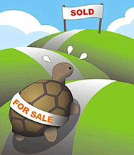 House sales slow
