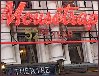 Theater signage in London - 2004