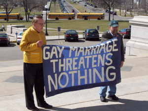 Supporting gay marriage
